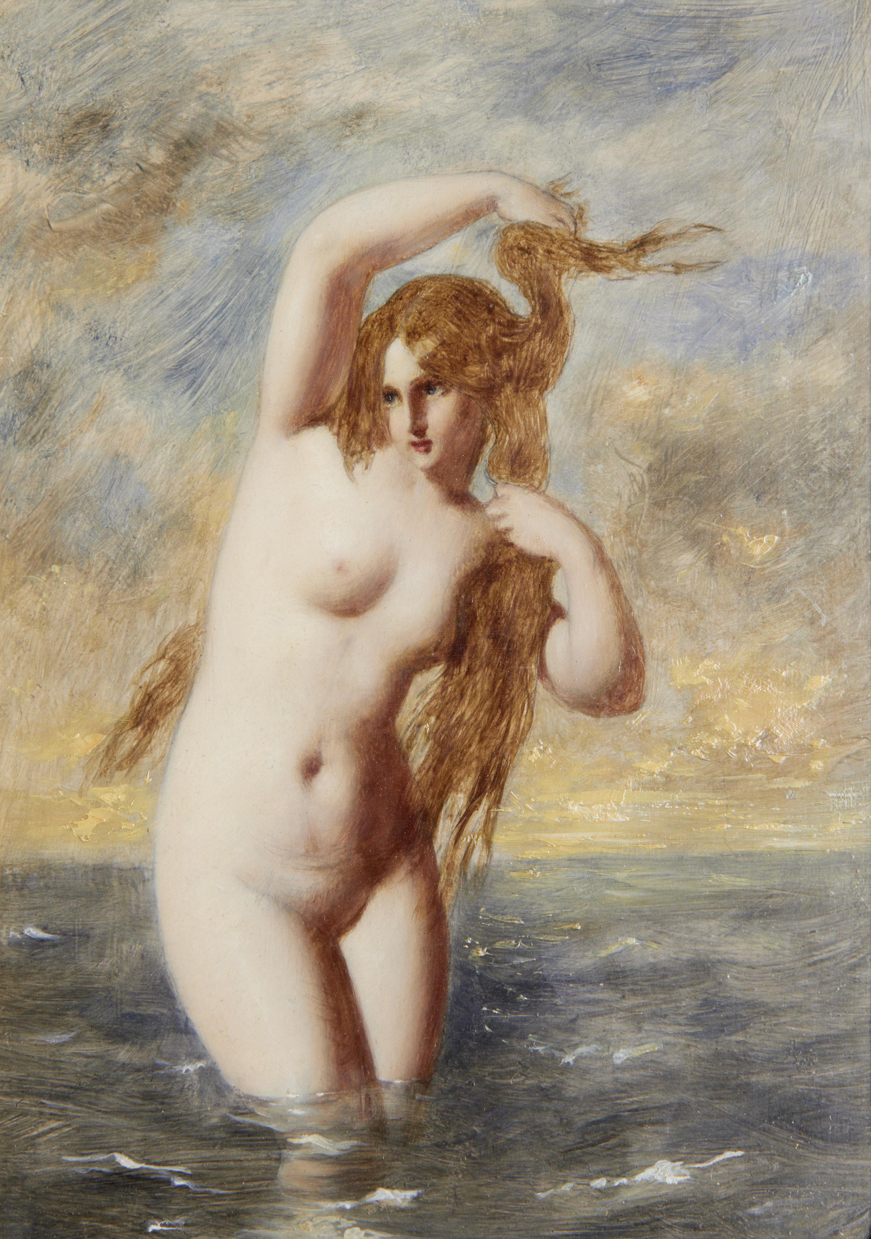 William Edward Frost, 1810-1877. Сирена. 23.5 x 17 см. частная коллекция