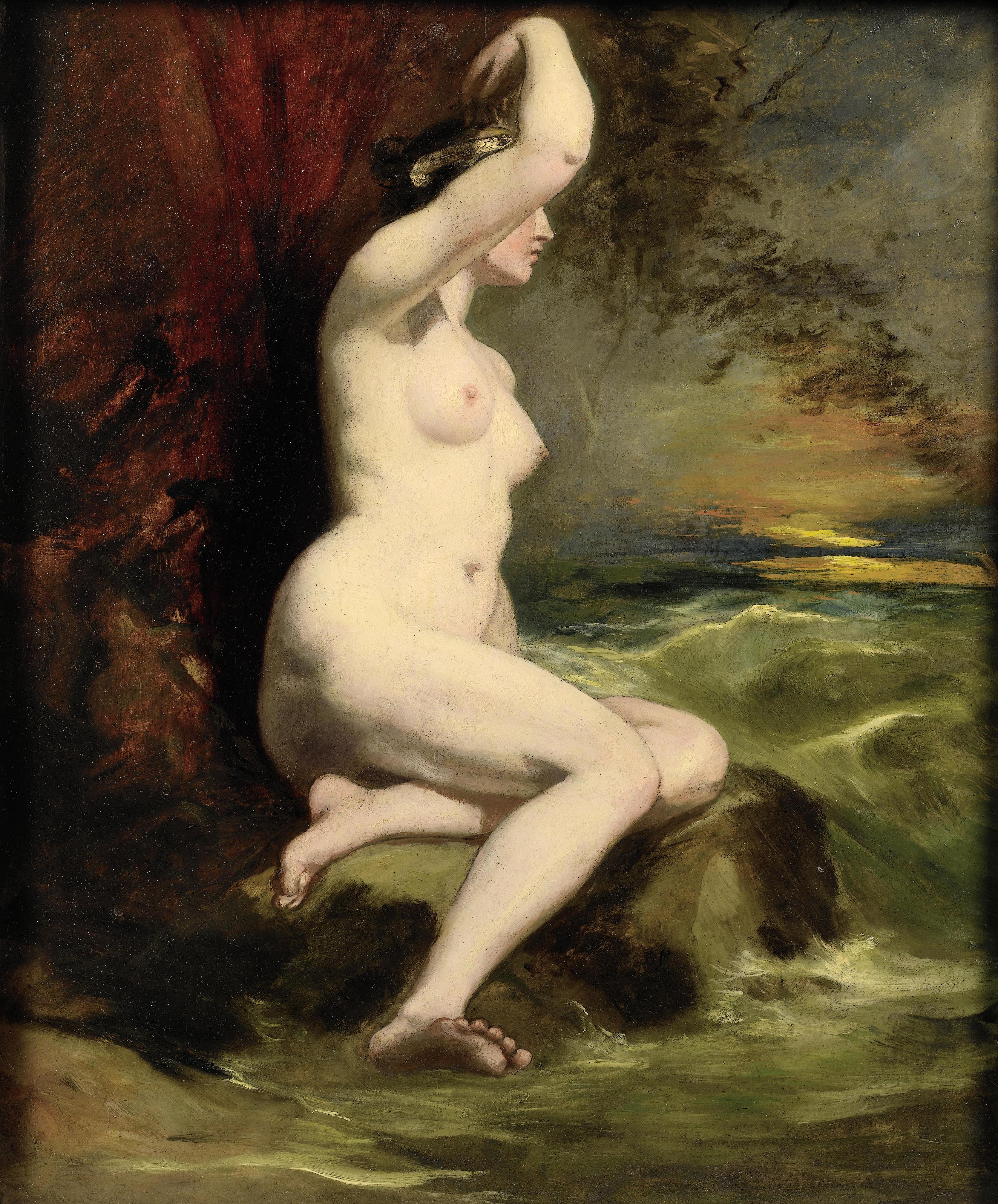 William Etty, 1787-1849. Ариадна. 50 x 42 см. частная коллекция
