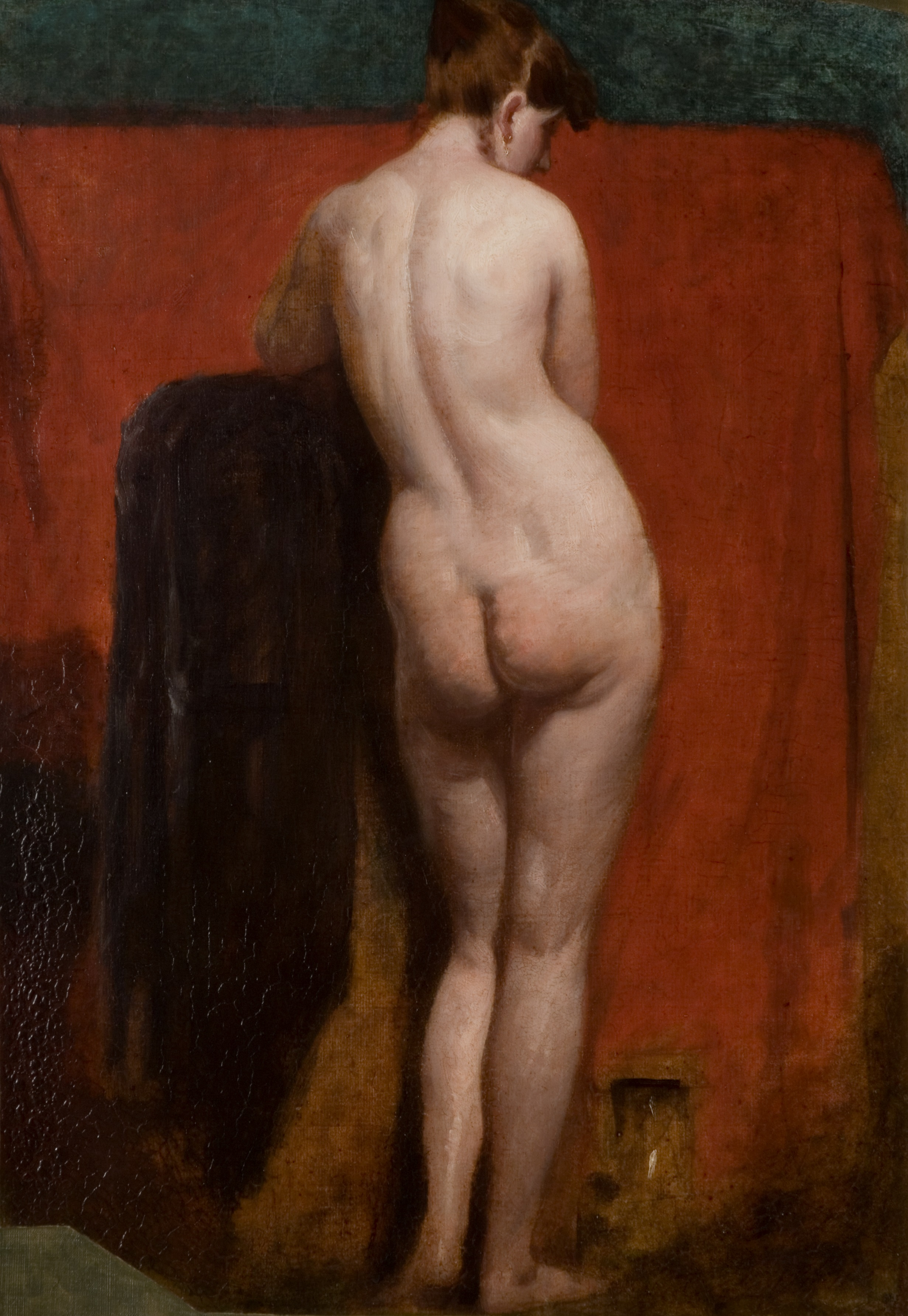 William Etty, 1787-1849. Стоящая обнаженная. 1835-1840. 69 х 52.5 см. Уоллсон, Новая художественная галерея