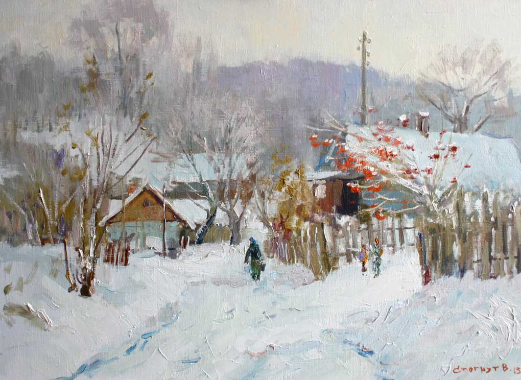 Зимовий день в селі Завареч
