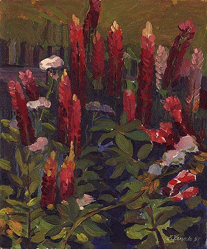 Городові квіти.Люпин.1997.Олія.60х50