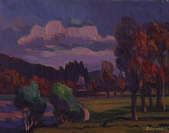 Осінь на Славщині.1995.Полотно,олія.50х70