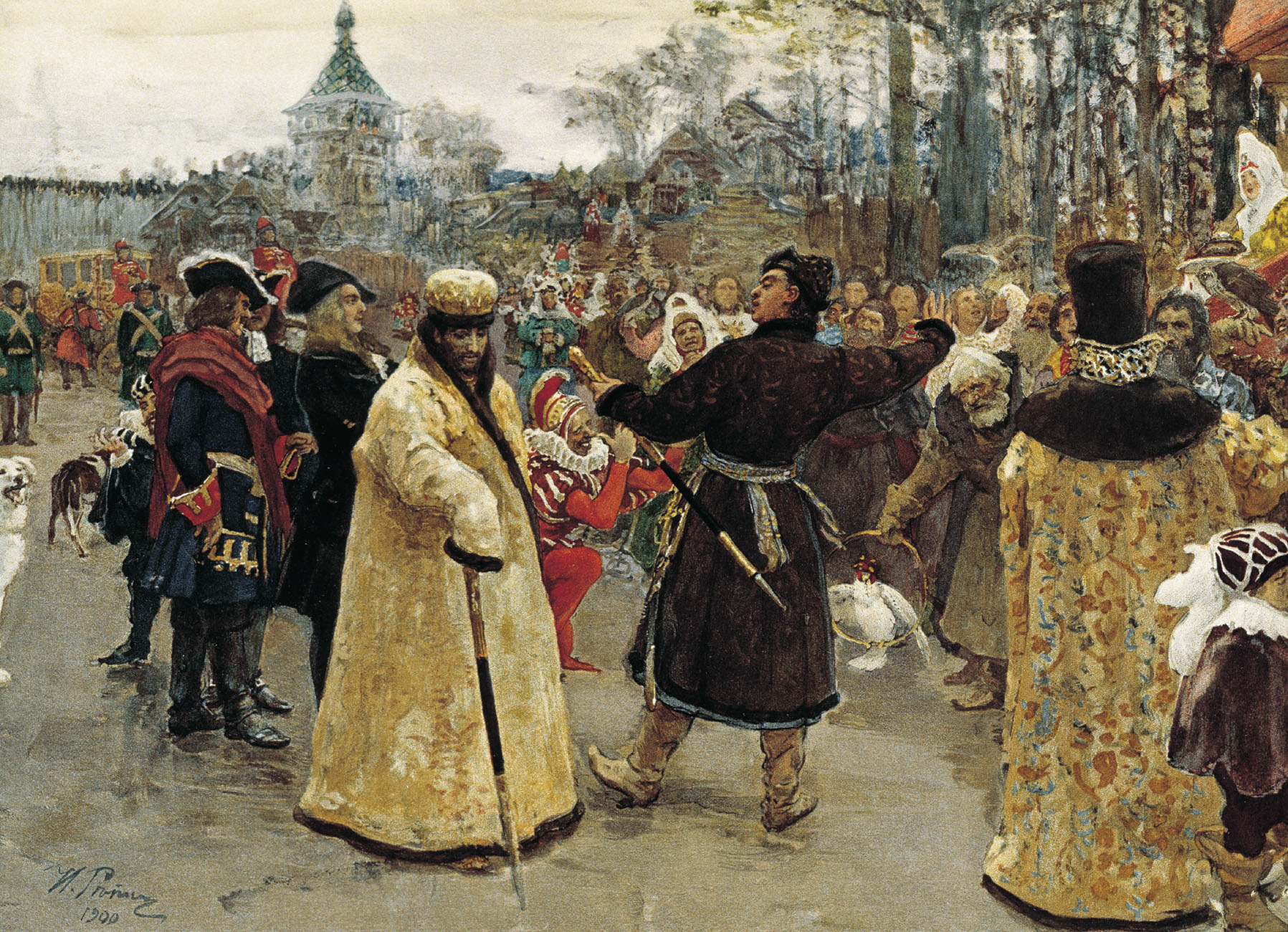 Приезд царей Иоанна и Петра