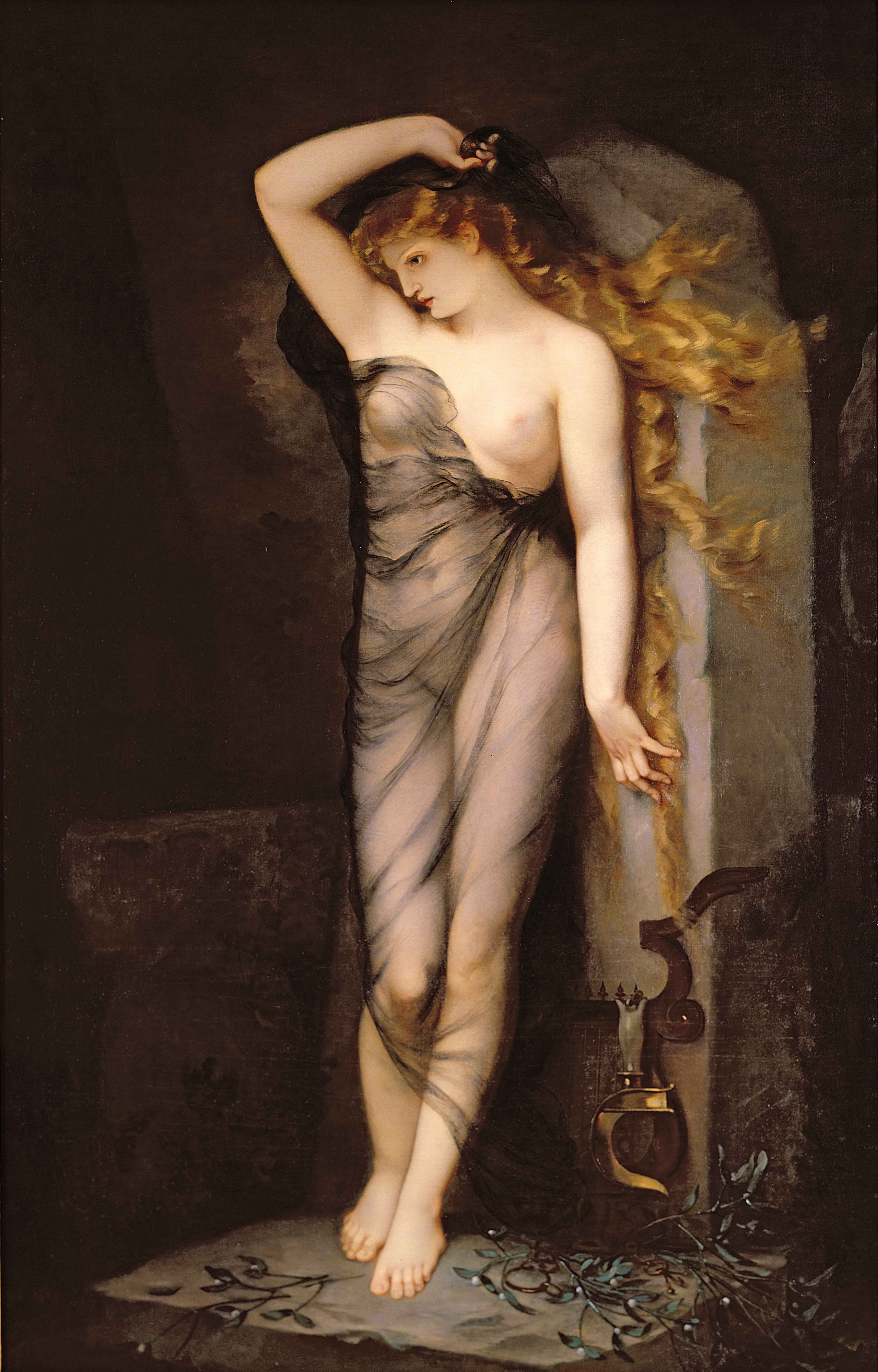 Charles Voillemot, 1823-1893. Велледа. 1869. 230 х 145 см. Частная коллекция