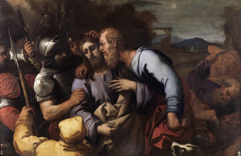 Джордано Лука (1632-1705) Поцелуй Иуды