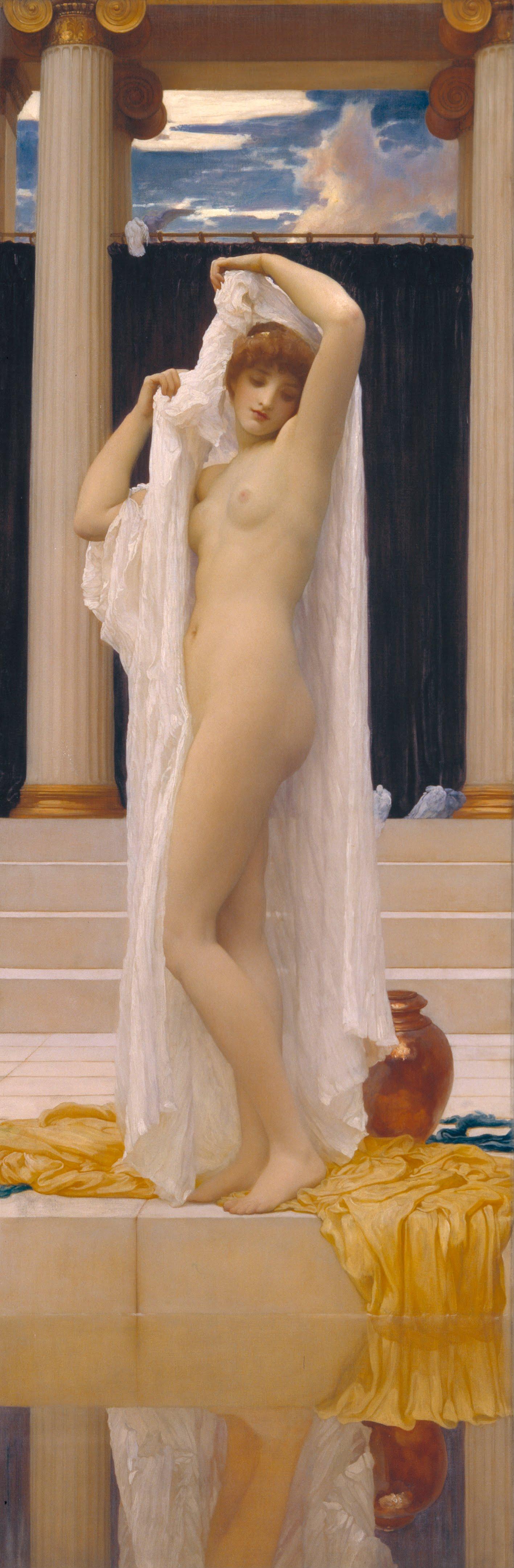 Frederick Leighton, 1830-1896. Купание Психеи. 189.2 х 62.2 см. Лондон, галерея Тейт