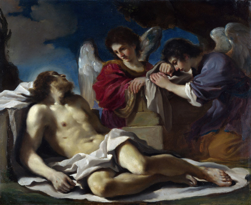 Guercino (1594–1665) The Dead Christ mourned by Two Angels