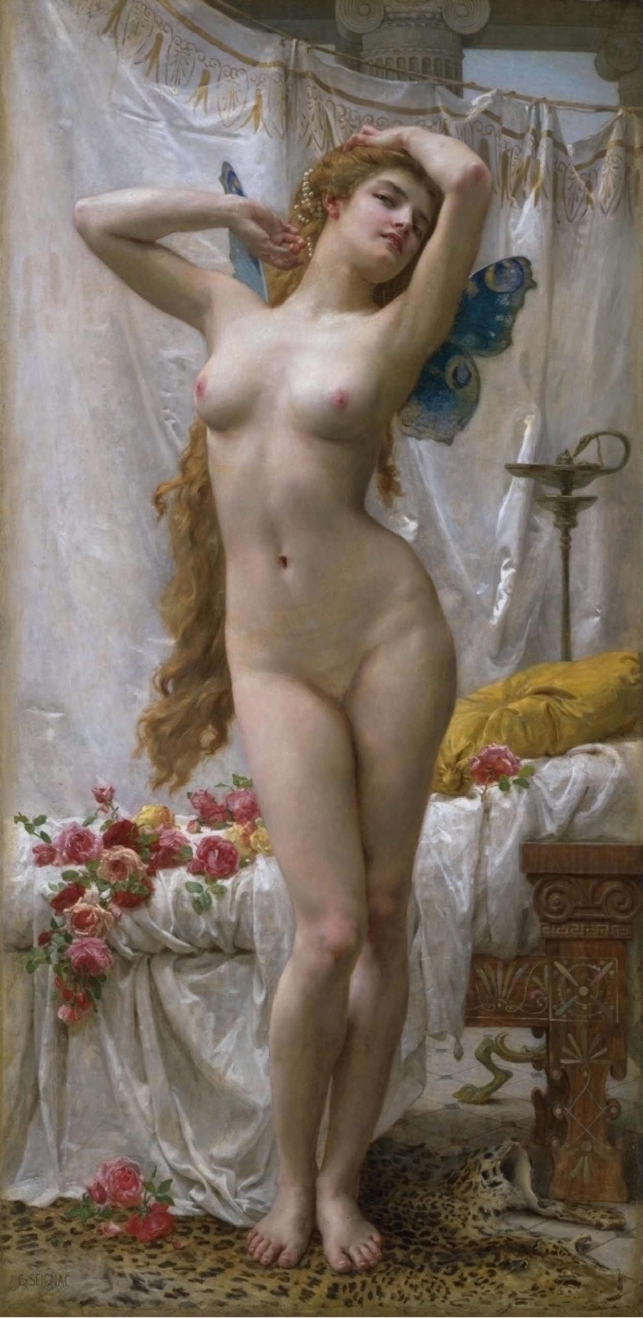 Guillaume Seignac, 1870-1924. Пробуждение Психеи