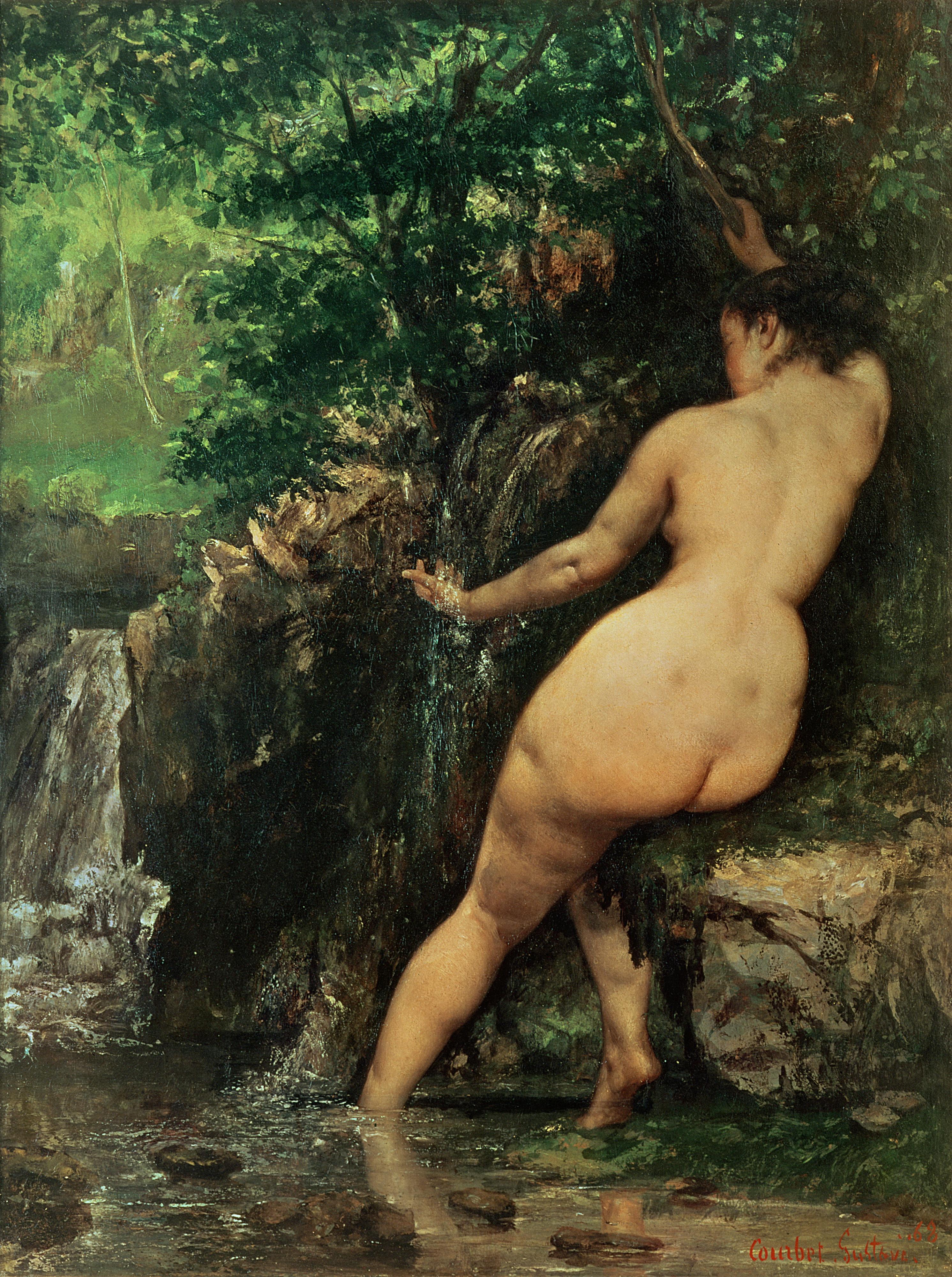 Gustave Courbet, 1819-1877. источник. 1868. 128 х 97 см. Париж, музей Орсе