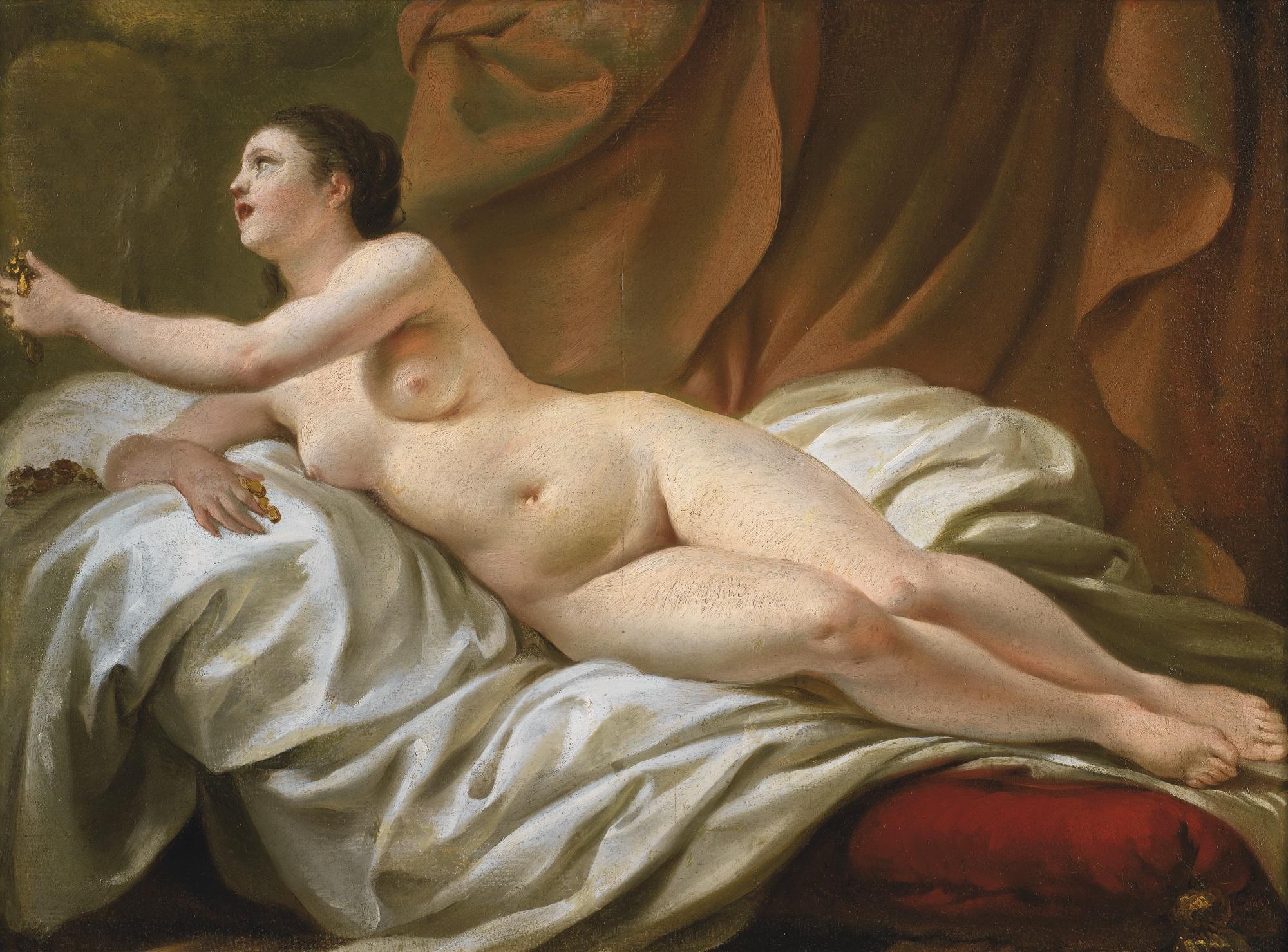 Jean-Baptiste Marie Pierre, 1714-1789. Даная. 41 х 53 см. частная коллекция