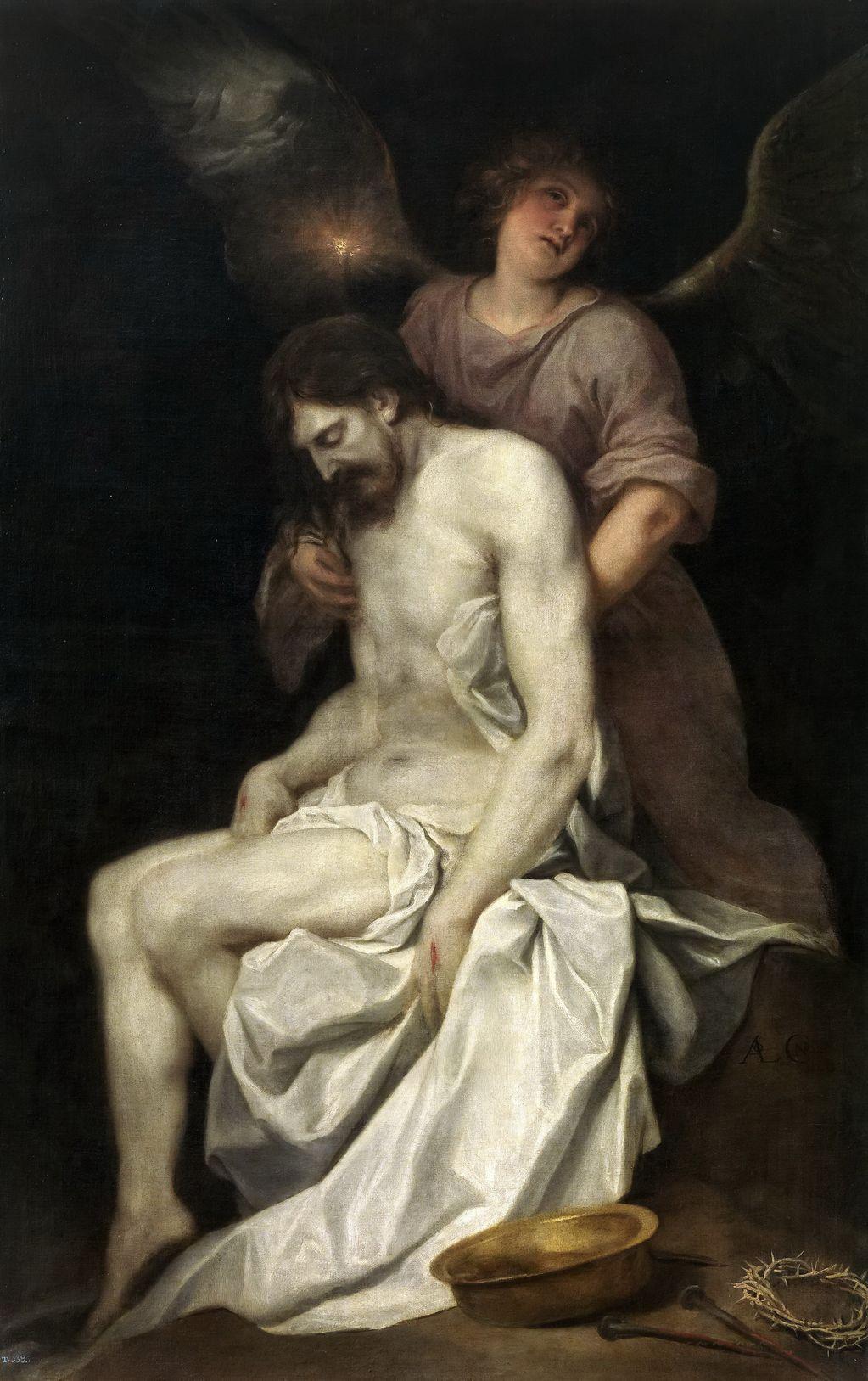 Кано, Алонсо (1601 — 1667) Мертвый Христос поддерживаемый ангелом