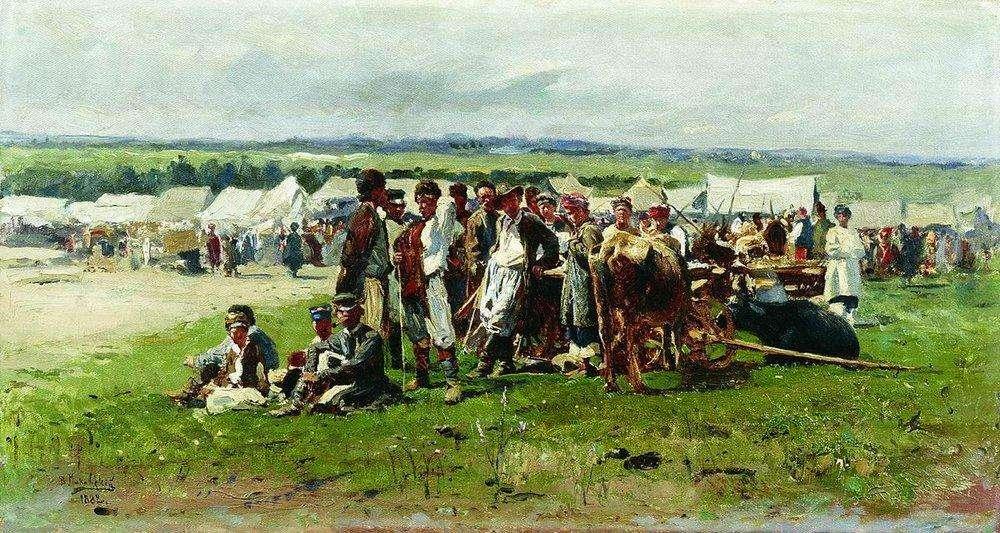 Маковський В. Є. (1846-1920) Ярмарок. 1882