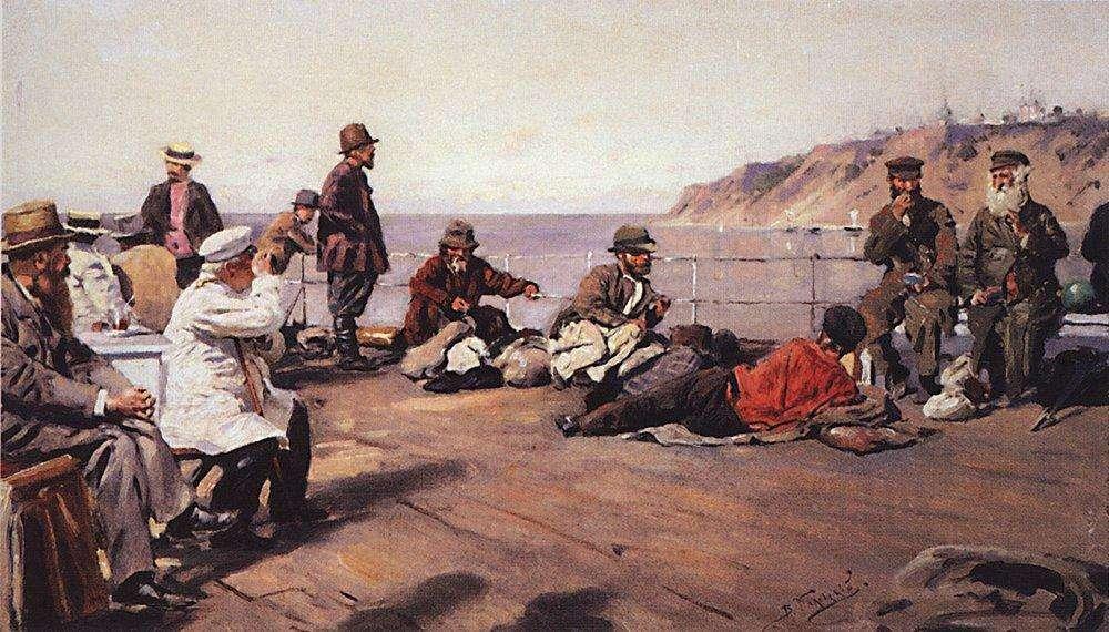 Маковський В. Є. (1846-1920). На пароплаві Дніпром. 1920