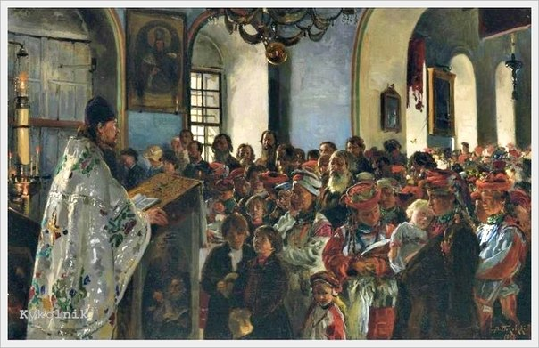 Маковський Володимир Єгорович (1846-1920) Проповідь в українській церкві 1888