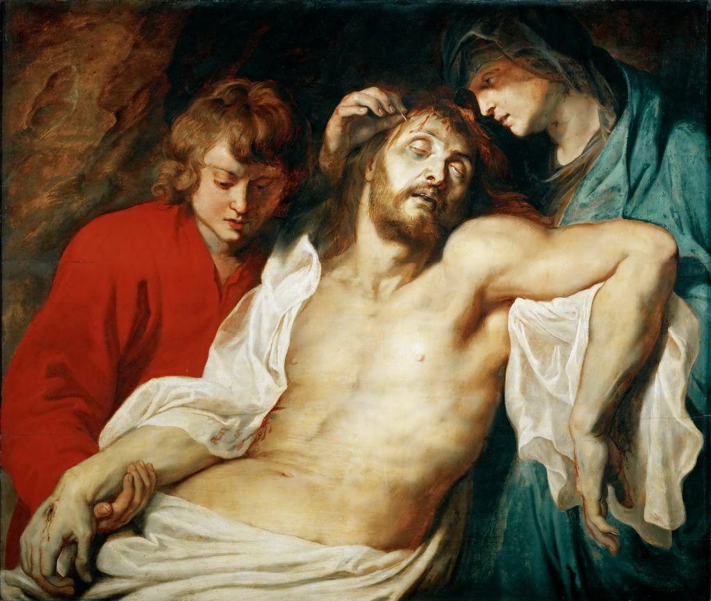 Рубенс, Питер Пауль (1577-1640) - Оплакивание Христа Марией и апостолом Иоанном
