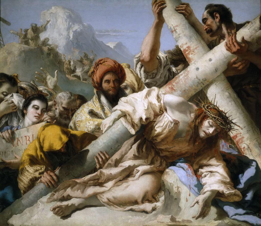 Тьеполо, Джованни Доменико (1727-1804) Падение на пути к Голгофе