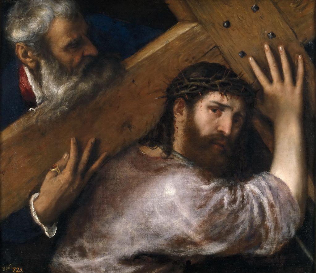 Тициан (1488—1576) Христос с Крестом