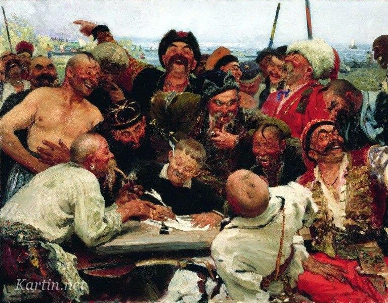 Ескіз - перший варіант Запорожців, Третьяковська галерея
