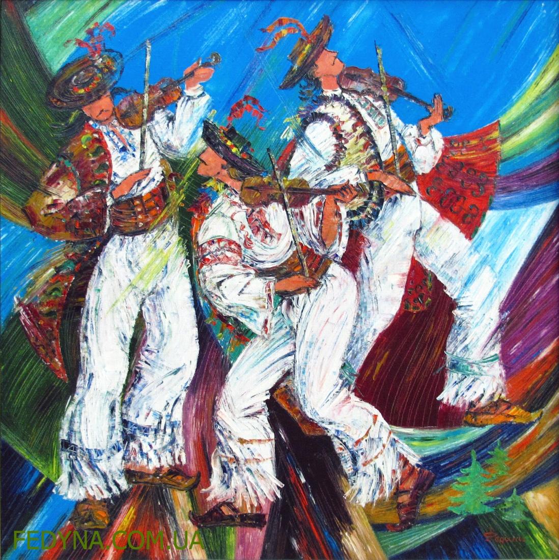 Гуцульські музики. Федина