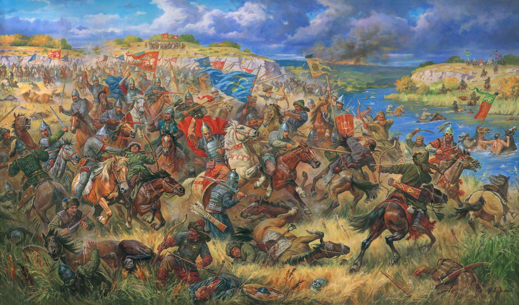 Князь Данила Острожский в битве на Синих Водах.1362 г.