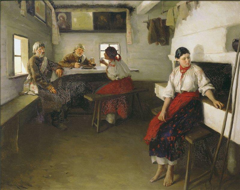 Николай Пимоненко Сваты. 1882 г.