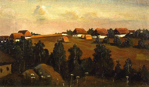 Село. Вечір 1890