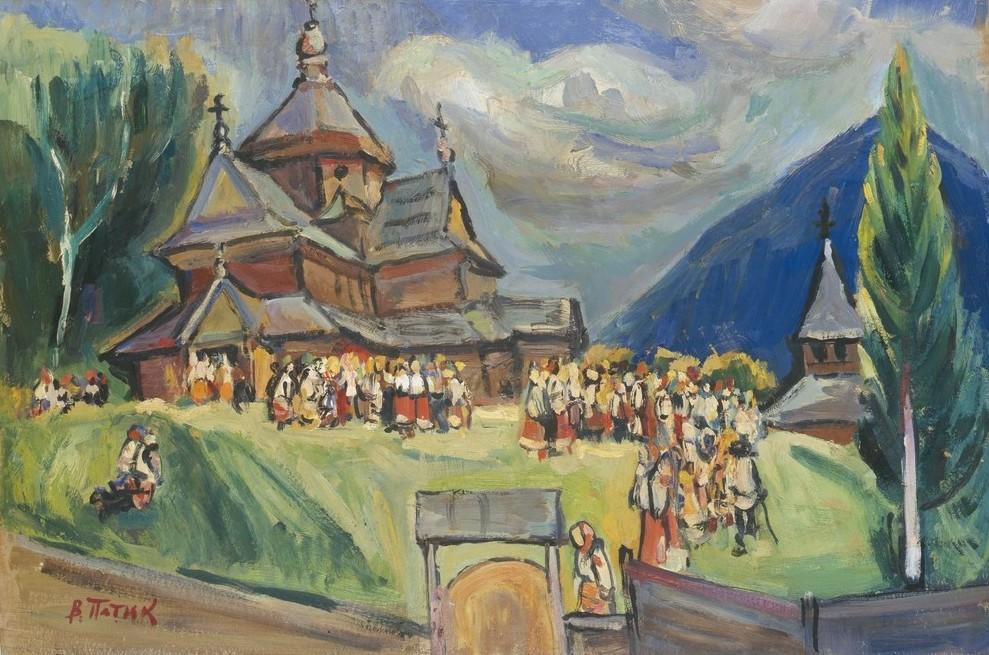 Селяни коло церкви
