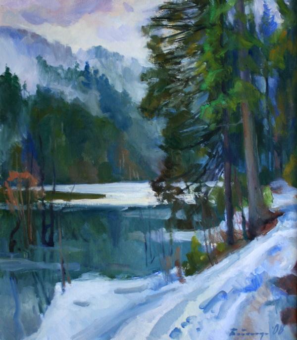 Зимою озеро Синевірі
