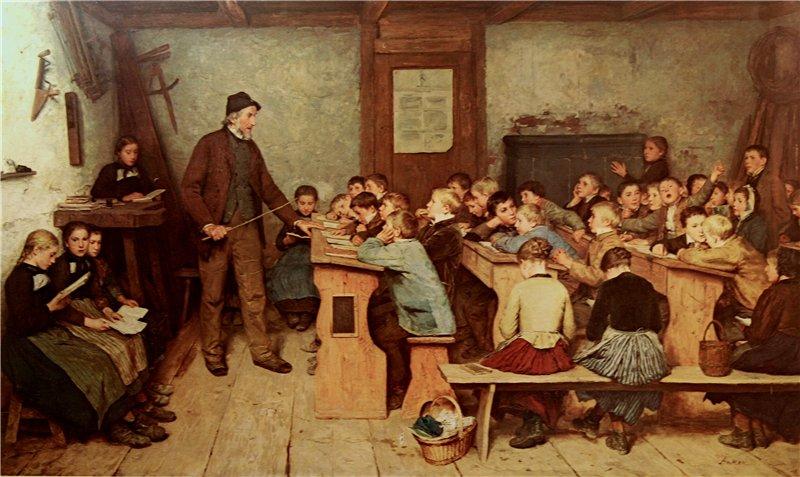Albert Anker Die Dorfschule von 1848. 1896 г.