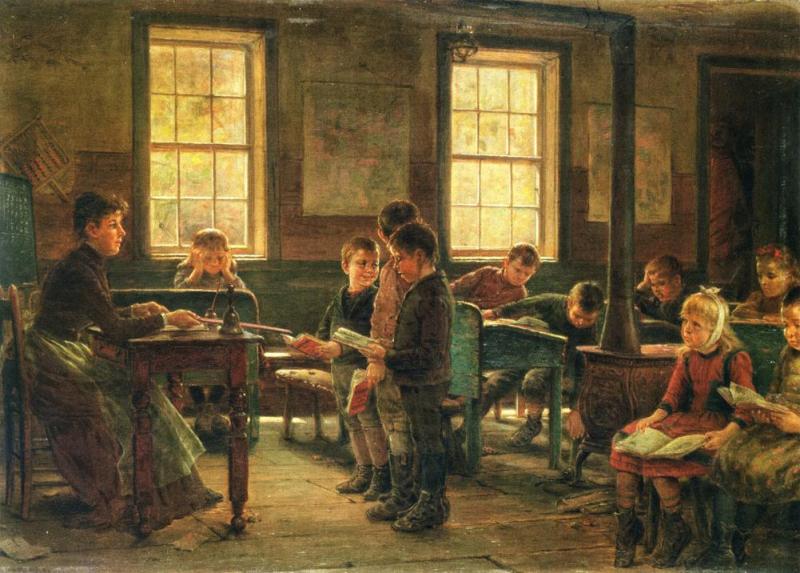 Edward Lamson Henry (American, 1841-1919) A Country School (Сельская школа). 1890 г. Yale University Art Gallery, New Haven
