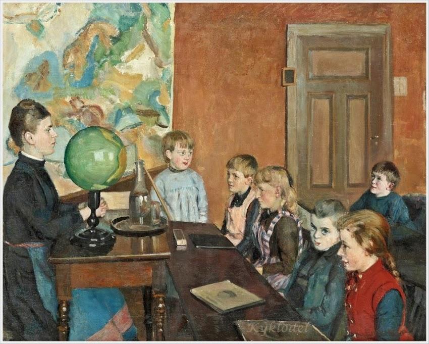 Endis Ingeborg Bergstrom (Sweden, 1866-1950) «Classroom interior»