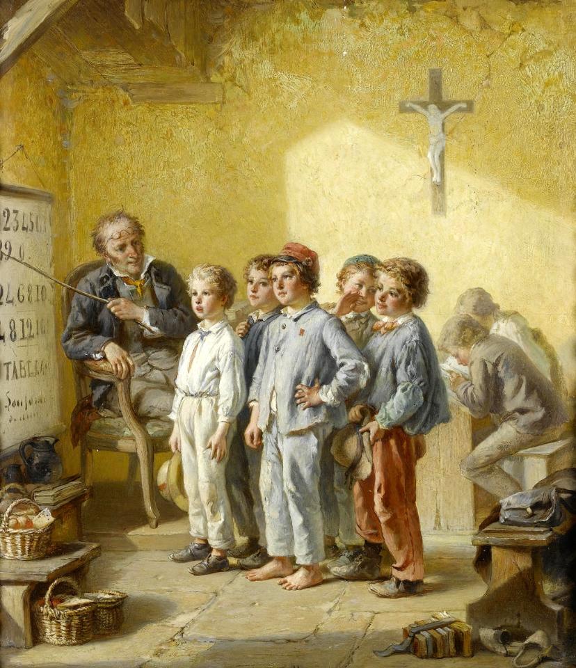 François-Louis Lanfant The Math Lesson.
