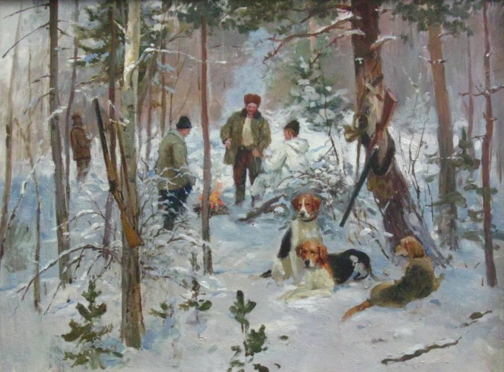 Привал охотников