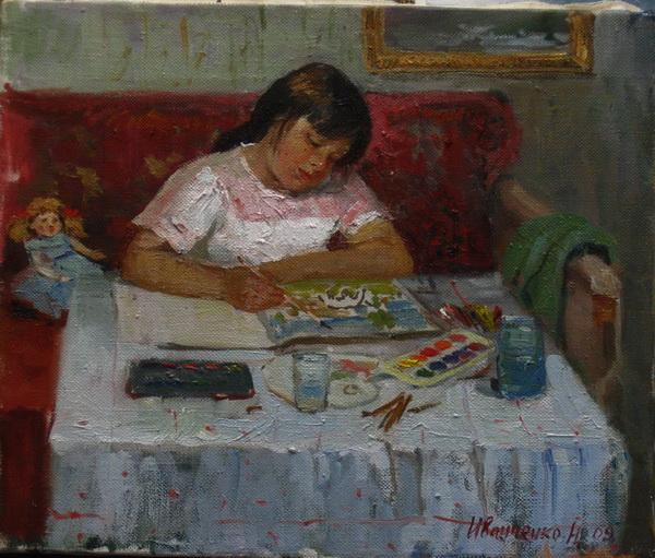 Юный художник,