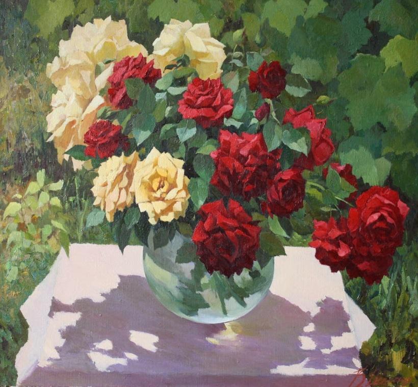 Розы на солнце (Букет роз)