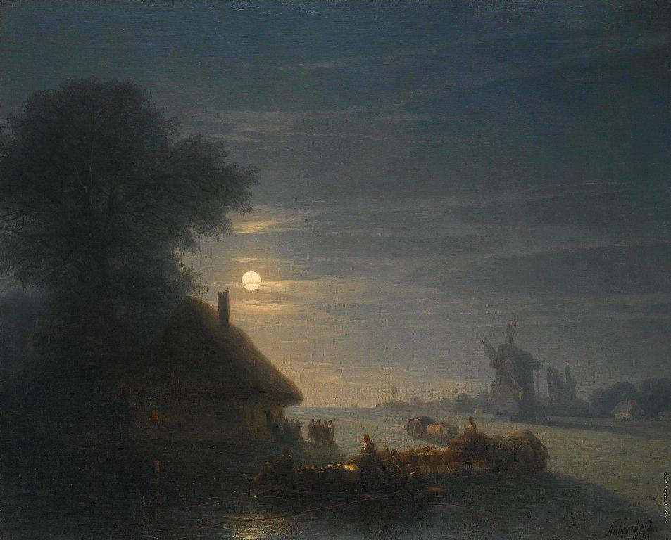 Украинский пейзаж ночью. 1870