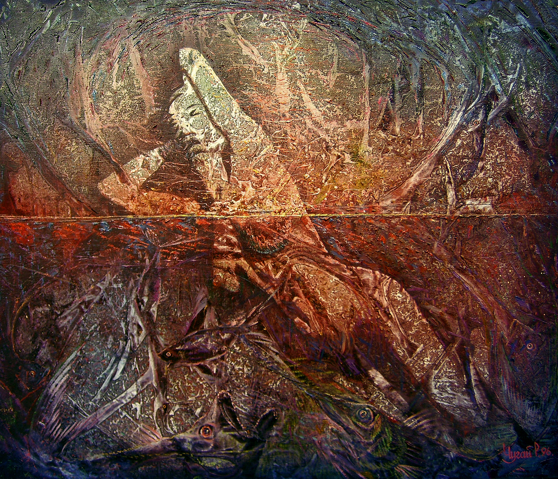 В-тенетах-полотно-олія-78х87.1996рік