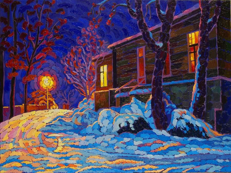Переулок Нагорный.Зимний вечер