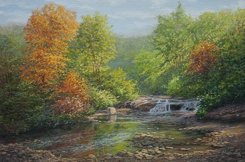 лісовий водоспад