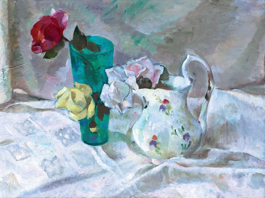 Натюрморт з трояндами, 1971