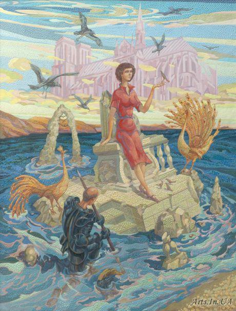 Триптих На волнах времени . Правая часть Нотр Дам де Пари