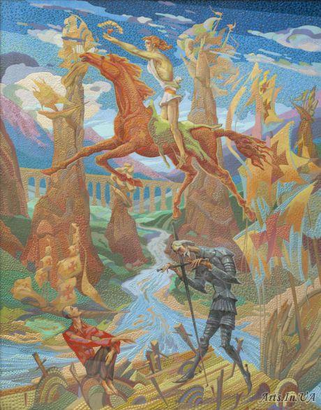 Триптих На волнах времени. Левая часть .Сердце Данко