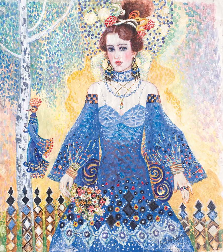 дівчина в голубому
