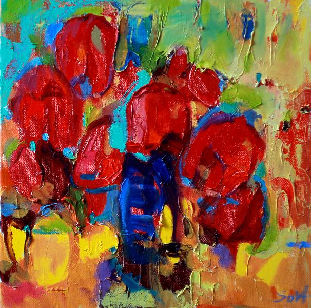 триптих Тюльпани