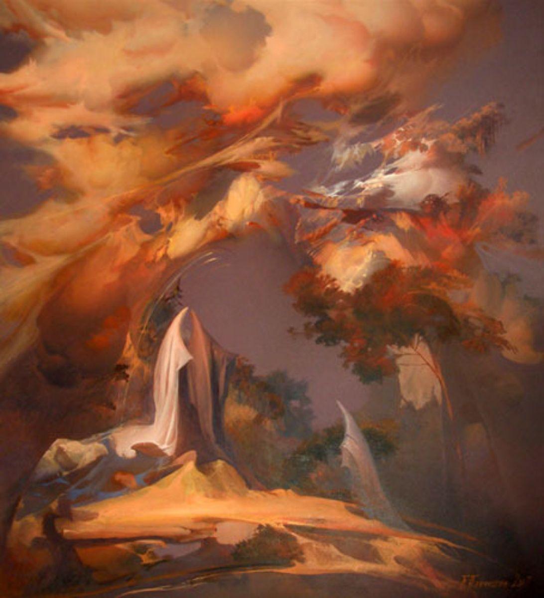 дерево і хмари