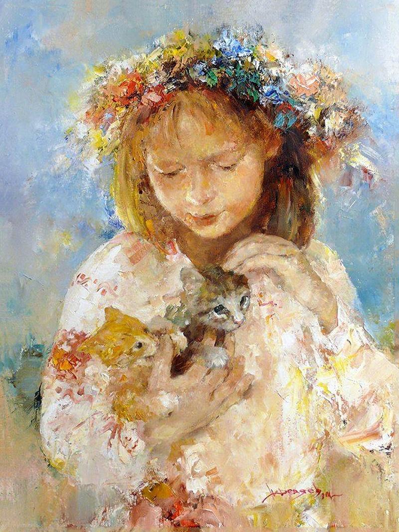 украиночка и котята