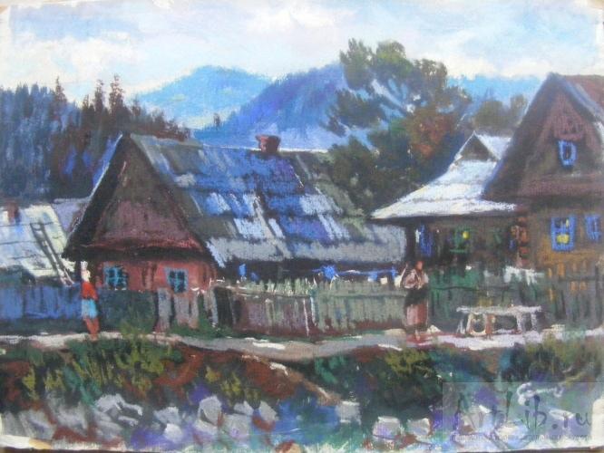 Гуцульское село