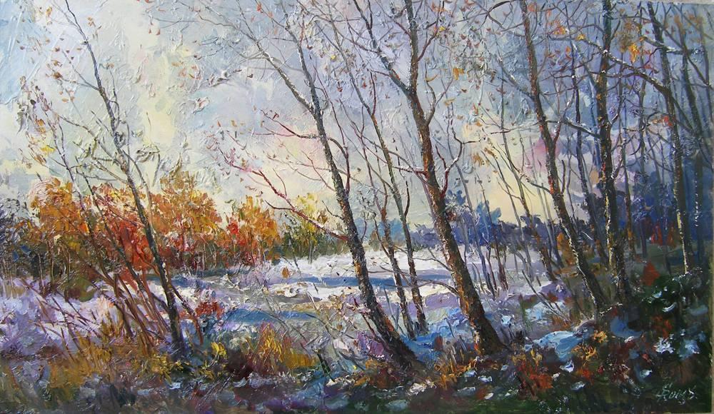 вітряний вечір в листопаді