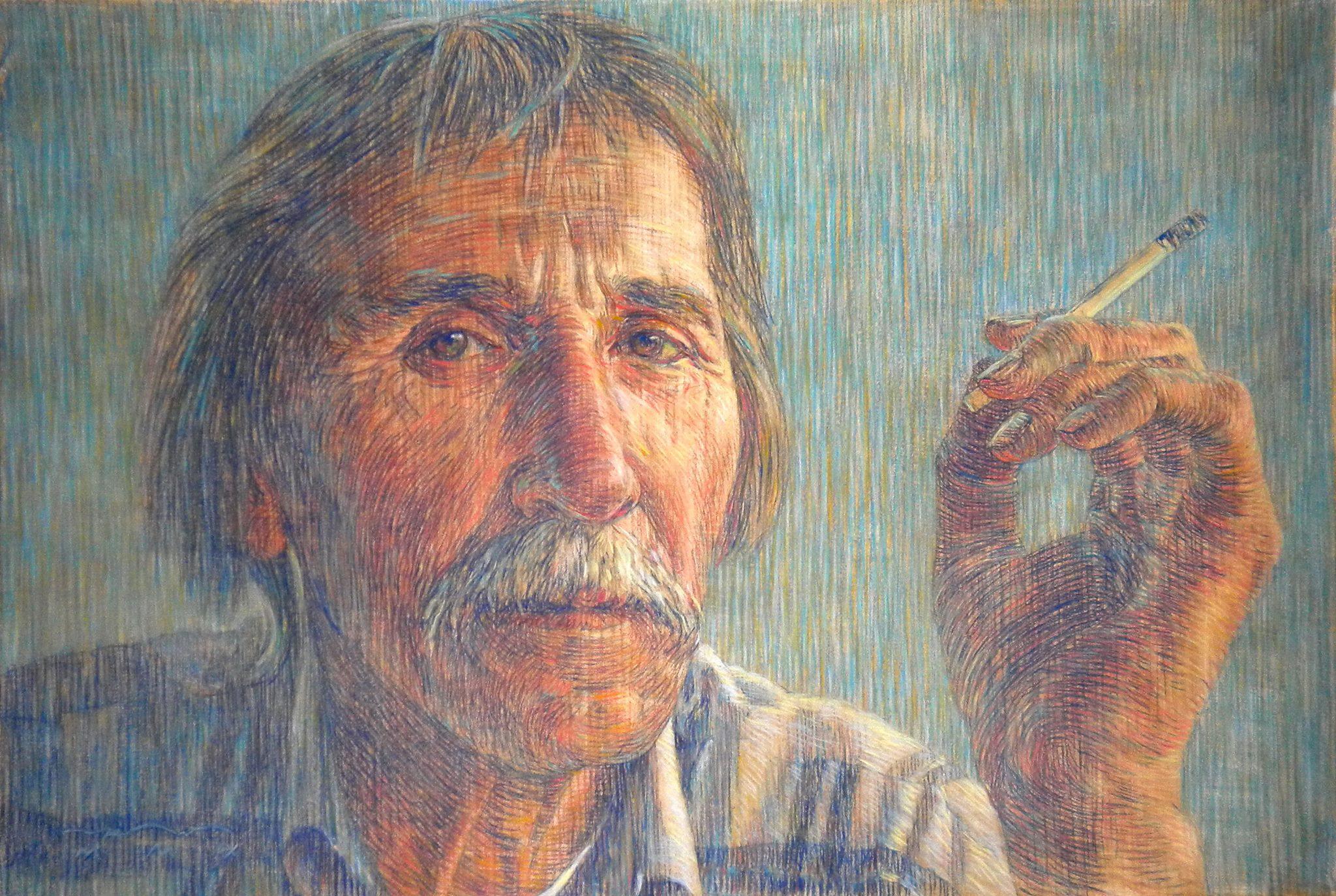 Портрет заслуженного художника России А. П. Рыбкина.