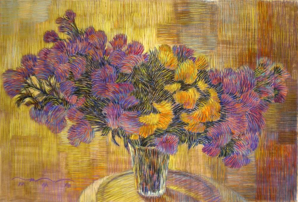 Золотые хризантемы